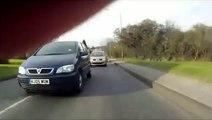 KJ05WUM Female Bully Driver - aggressively impatient close overtake KJ05 WUM