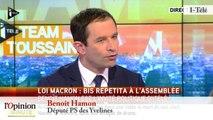 """TextO' : Loi Macron : Benoît Hamon : """" Le 49.3 est d'abord un aveu de faiblesse """""""