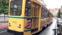 Brussels City Tramways vintage tram operation.
