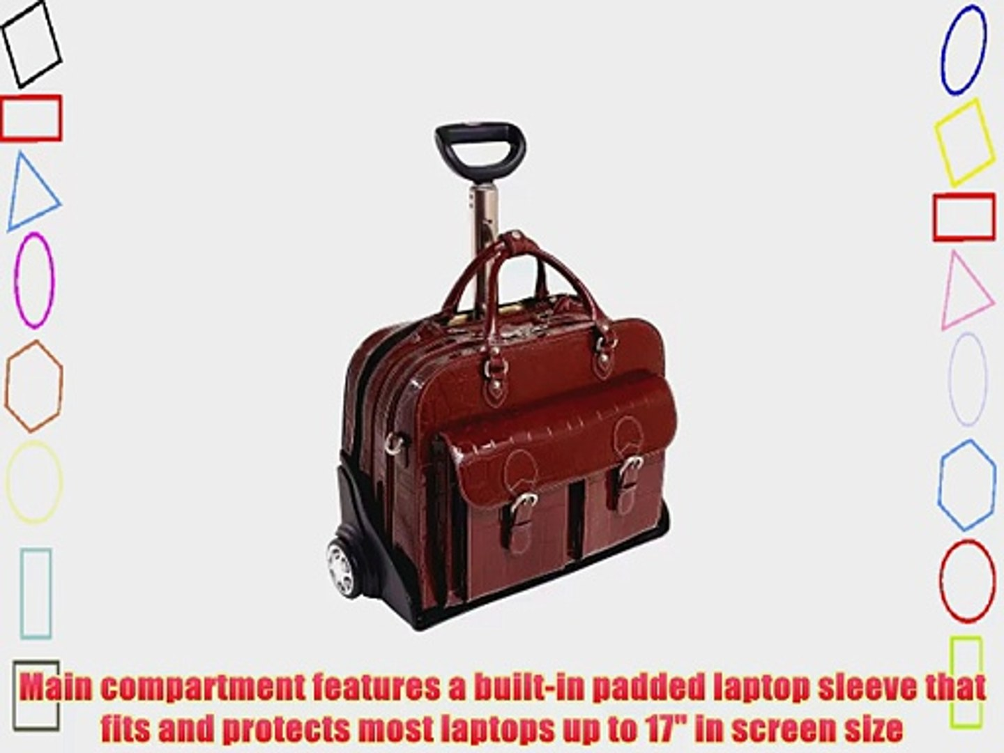 46004 McKlein 337095-6560895 Siamod Ceresola Checkpoint 17 Wheeled Laptop Case Detachable-Wheeled Laptop Case Leather 17in Brown CERESOLA Siamod