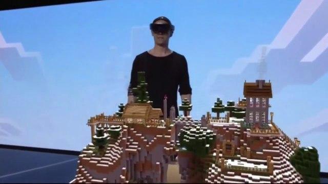 La démonstration impressionnante du jeu Minecraft avec les Microsoft HoloLens