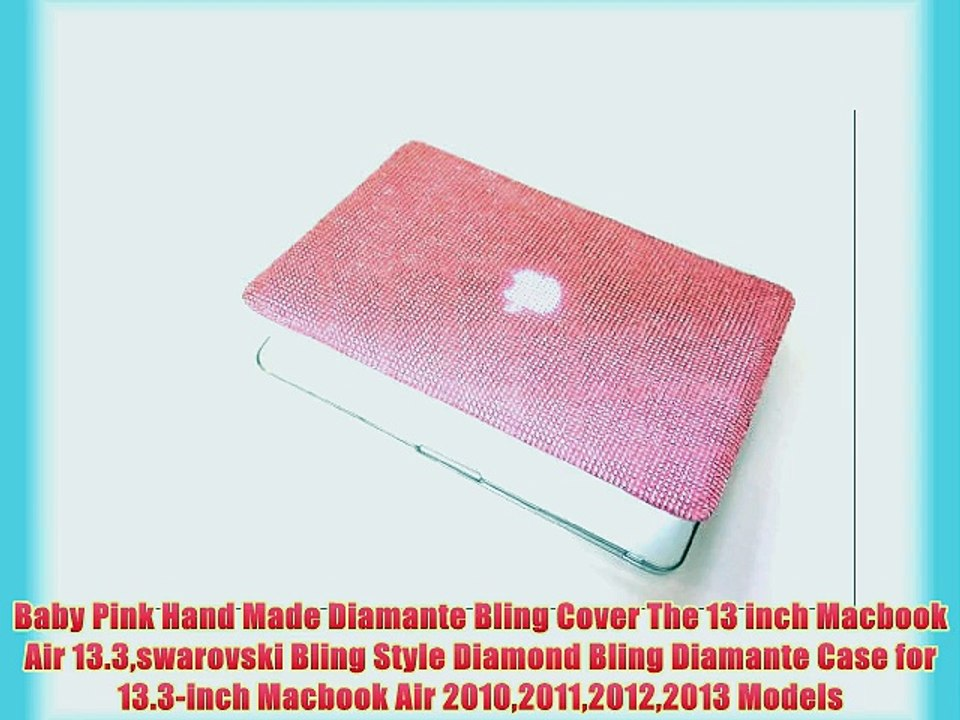 check out a7e35 fd426 Baby Pink Hand Made Diamante Bling Cover The 13 inch Macbook Air  13.3swarovski Bling Style