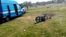 24 heures du Mans moto 2015 ,parking bleu des motards après la fête.