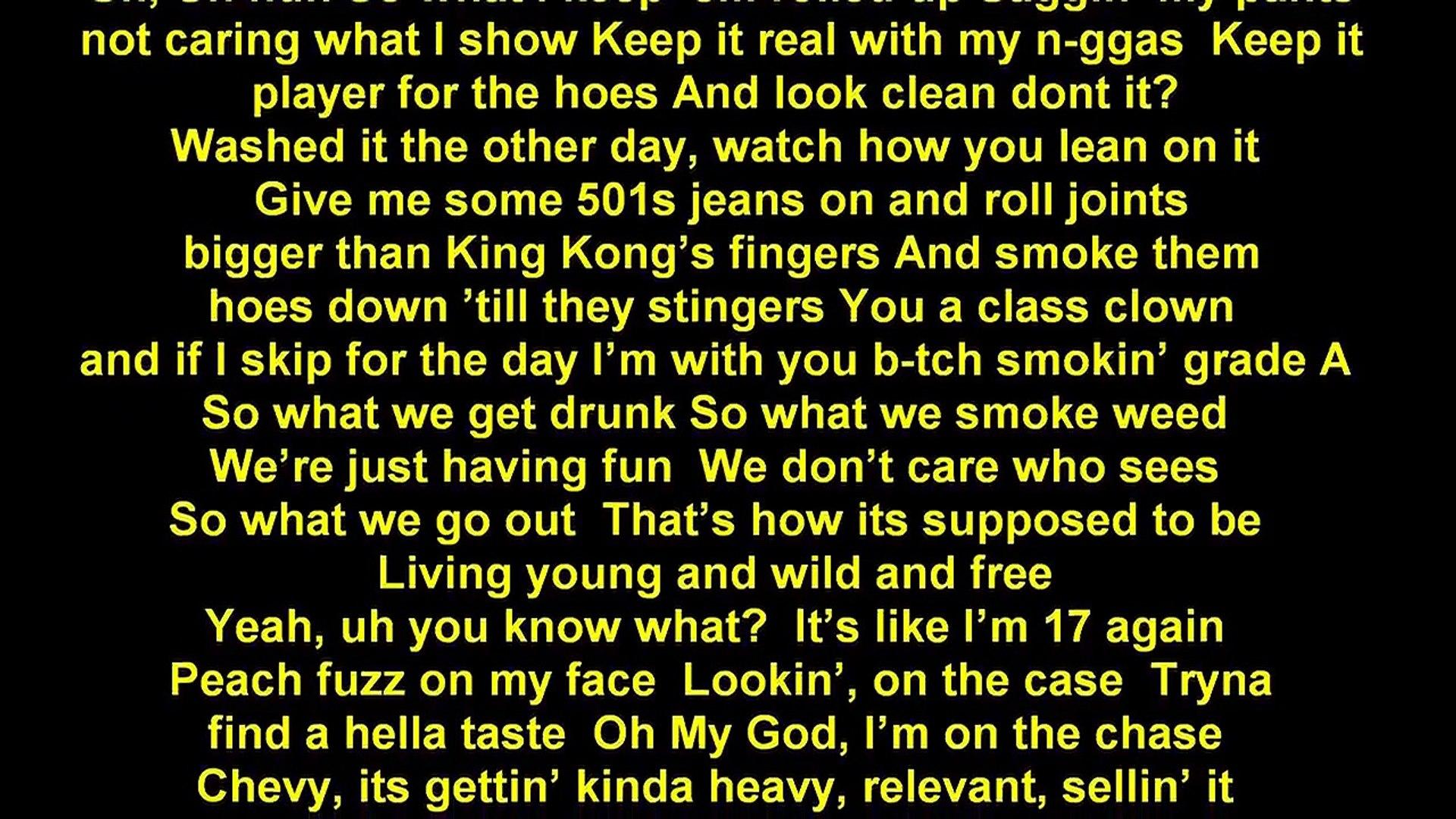 Wiz Khalifa Young Wild And Free Lyrics