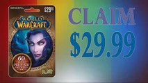 Get World of Warcraft (WOW) 60 day Subscription card generator $30 Proof updated in 2015