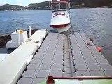 24' Yellowfin Kiani Docking on a VersaDock Floating Dock System in Kaneohe Bay Hawaii