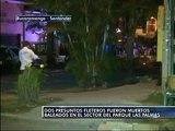 Dos presuntos fleteros fueron muertos baleados en el sector del Parque las Palmas