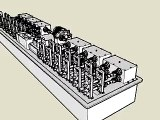 roll forming machine, Sketch animation,3d roll forming machine,sketchup,former machine