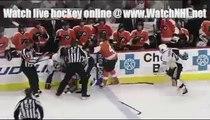 NHL Pittsburgh Penguins vs. Philadelphia Flyers Fight Oct 8 2009