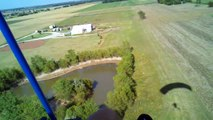 AFU Outlaw Extreme Powered Parachute Landing in Horse Pasture - Josh Pote