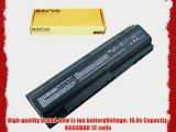 Bavvo 12-cell Laptop Battery for HP/Compaq 383493-001 395751-321 396600-001 396601-001 396602-001