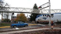 Amtrak Coast Starlight trains 14 & 11 passing through Salem, Oregon