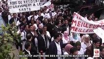 SIT-IN DES RESIDENTS D'ALGER ET BLIDA LORS DE LA GREVE 23 MARS 2011 CHU MUSTPHA ALGER