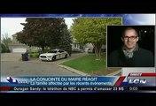 Le journaliste de TVA nouvelles Yves Poirier, questionne la conjointe du maire de Laval