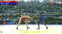 Quarterfinal - Freestyle Wrestling 61 kg - A. BOGOMOEV (RUS) vs Y. BONNE (CUB) - Tashkent 2014