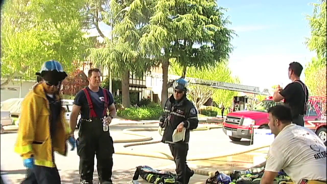 Sunnyvale 2 Alarm Structure Fire causes Major Damage to two story Home ((HD))