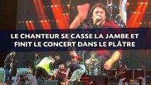 Foo Fighters: Le chanteur se casse la jambe et finit le concert dans le plâtre