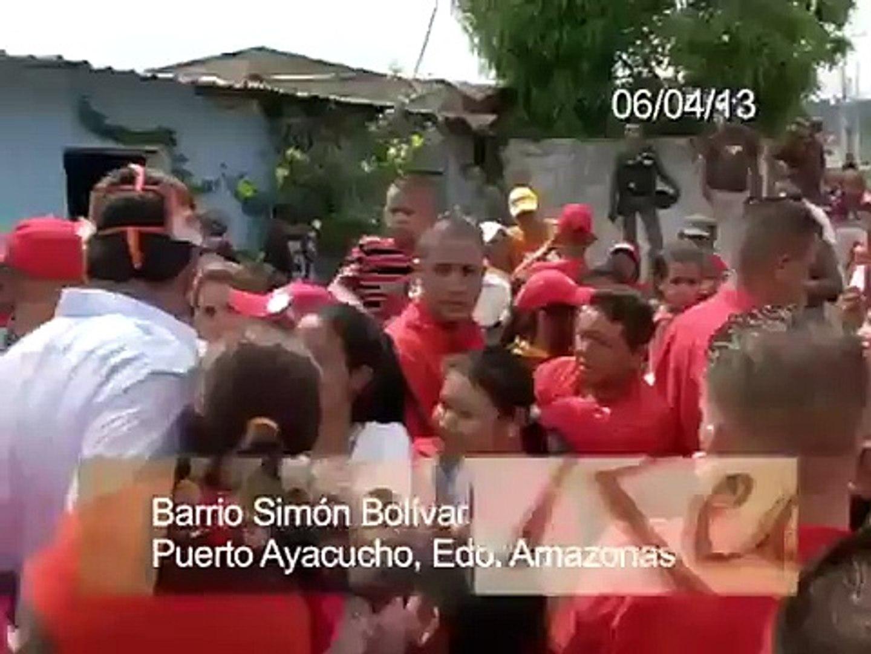 Una historia real en Amazonas, GMVV. Nicolás Maduro con opositoras pobres en infrevivienda