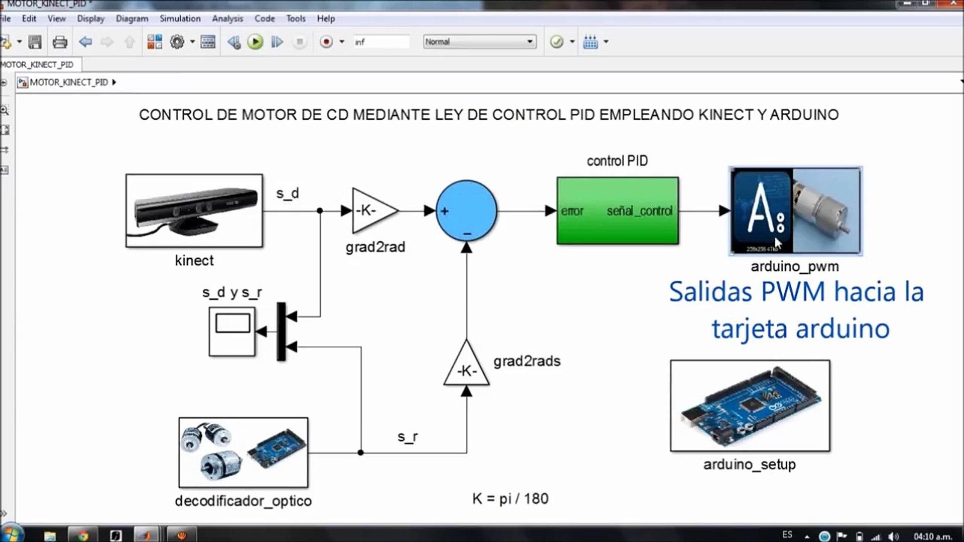 CONTROL PID MOTOR KINECT-ARDUINO-SIMULINK