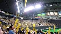 Rocket balloons at a Japanese baseball game