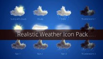 After Effects Project Files - Realistic Weather Icons - VideoHive 9117357