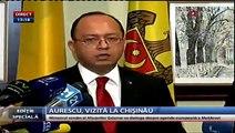 """""""Perspectiva europeană nu o poate lua nimeni Republicii Moldova, pentru că ea intră în codul genetic al cetăţenilor ei"""", a declarat ministrul român al Afacerilor Externe, Bogdan Aurescu, aflat într-o vizită de două zile la Chişinău"""