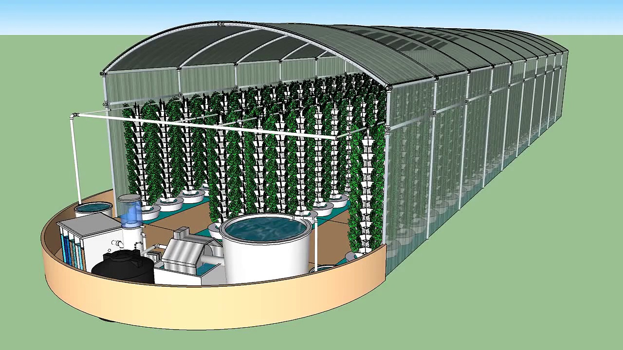 Vortex Aquaponics – Urban Farms – 70 ft Aquaponics Hoop House