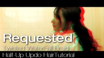 ★CUTE HAIRSTYLES HAIR TUTORIAL WITH TWIST-CROSSED CURLY HALF-UP UPDOS PONYTAIL FOR MEDIUM