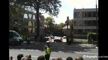 Barack Obama's 'beast' limo gets stuck on Dublin embassey ramp