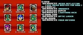 Street Fighter X Mega Man - Boss Order / Weaknesses