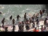 Naga Sadhus take a holy dip in River Ganges - Haridwar