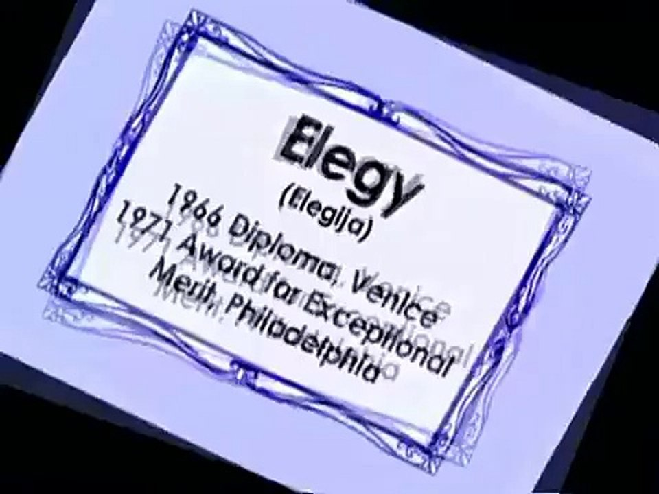 Elegy Elegija Zagreb Film 1965 Video Dailymotion