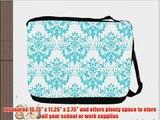 Rikki KnightTM Shabby Chic Blue Damask Messenger Bag - Shoulder Bag - School Bag for School