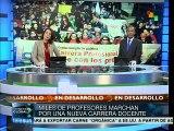 Docentes chilenos piden el retiro de la Ley de Carrera Docente