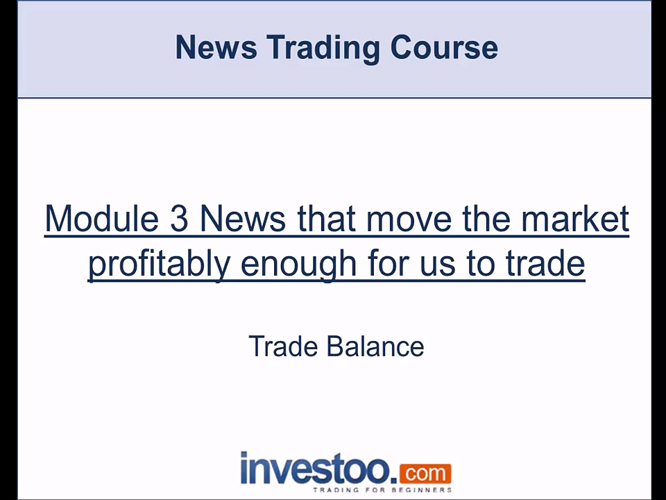 How to Trade the Trade Balance