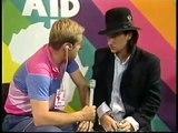 Roger Taylor (Queen) & Bono (U2) Live Aid interviews 1985