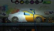 Purple car for kids | Cartoon about wash car | Dessin animé sur la voiture de lavage | Ganzelize San