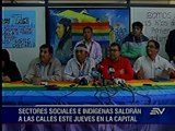 Marcha en Guayaquil e Indígenas convocan a movilización