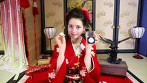 Japanese Geisha Makeup Tutorial easy & cheap