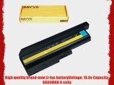 Bavvo 9-cell Laptop Battery for IBM ThinkPad T61 T500 W500 R500 R61 T60 R60 SL300 SL400 SL500PN:IBM