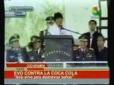 Evo Morales contra la Coca Cola.|