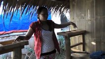 Look Around Inside the Nipa Hut Nearing Completion - Bahay Kubo