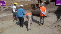 Fouille préventive à Montereau-sur-le-Jard, sur un site du paléolithique moyen