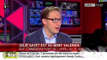 La Newsroom, Julie Gayet au Mont Valérien, jeudi 18 juin