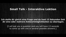 Deutsch Lernen | Interaktive Lektion 10 | Wollen wir ins Kino gehen? | #SmallTalk | Learn German HD♫