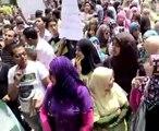 مظاهرة كلية الحقوق جامعة المنوفية شبين من أجل تحسين النتيجه