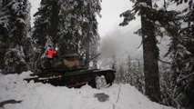 Incredible Avalanche Control program with M60 Patton Tanks!