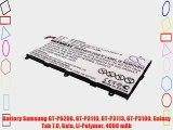 Battery Samsung GT-P6200 GT-P3110 GT-P3113 GT-P3100 Galaxy Tab 7.0 Gala Li-Polymer 4000 mAh