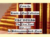 """From the Risale-i Nur Collection """"THE WORDS"""" The First Word (Page:15-17) by Bediuzzaman Said Nursi"""