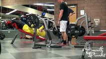 Gym Pranks: Old Man Lifting Weights In The Gym